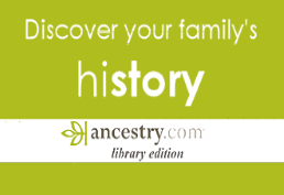 Bright green logo with families
