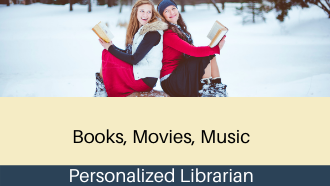 Photo of girls outside reading in the snow
