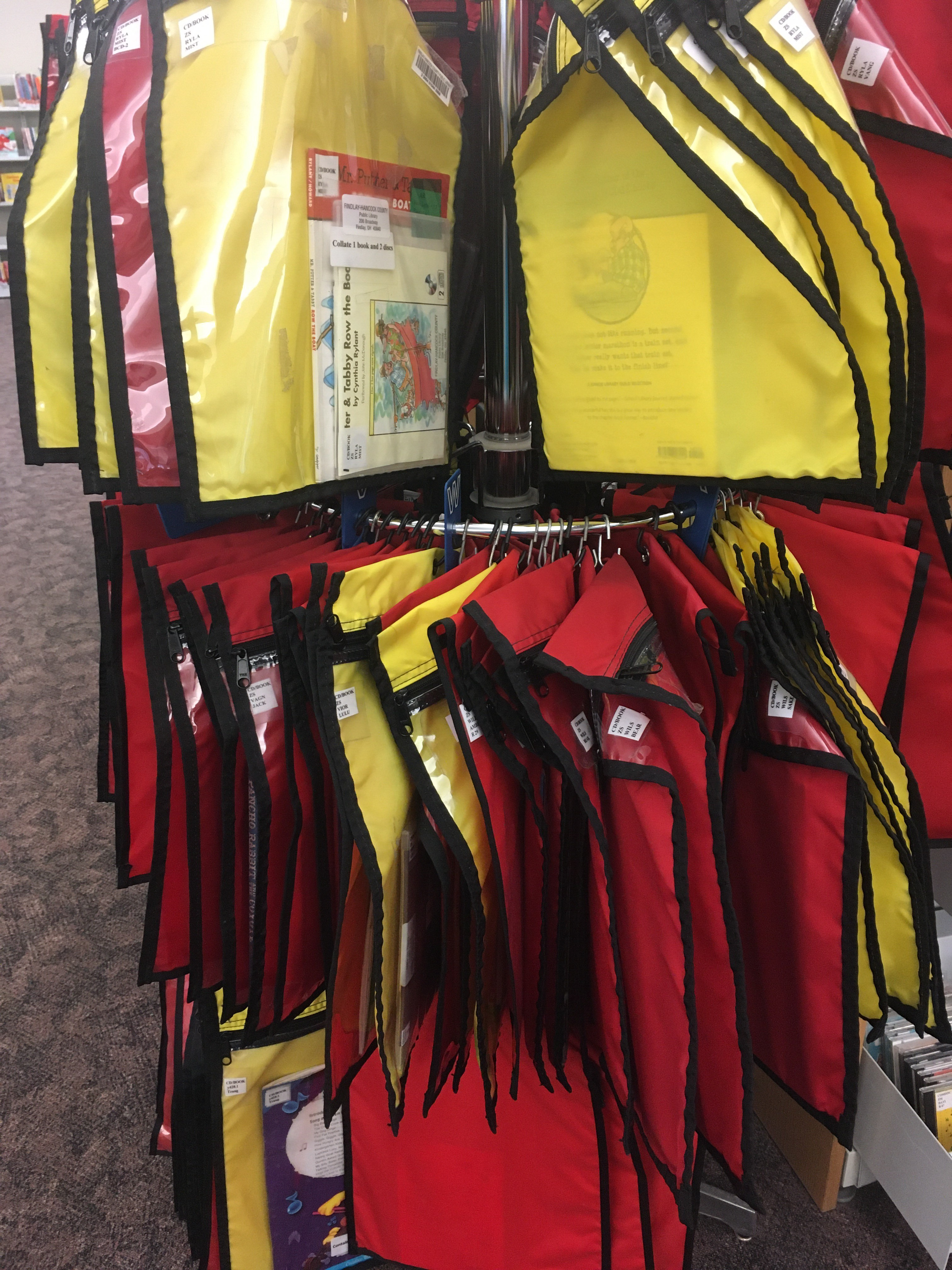 red and yellow bags