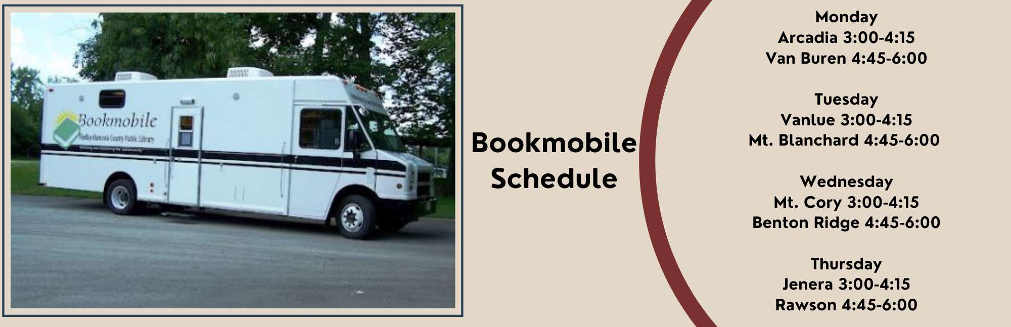 picture of bookmobile on a sunny day