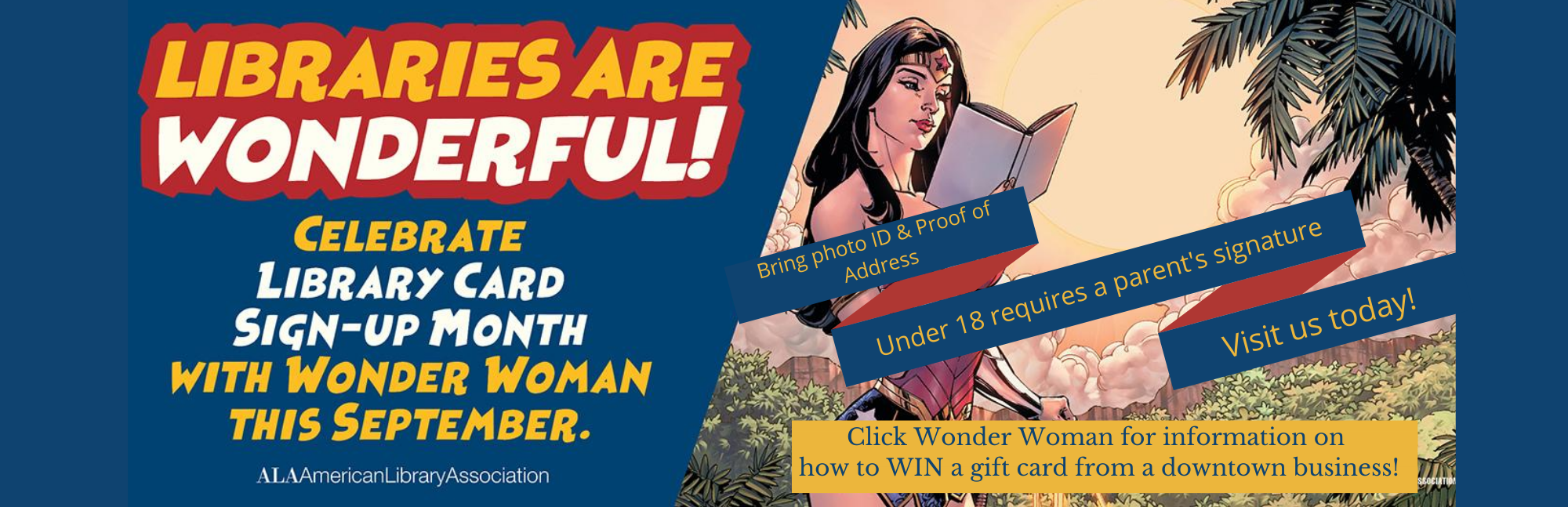 Wonder Woman reading